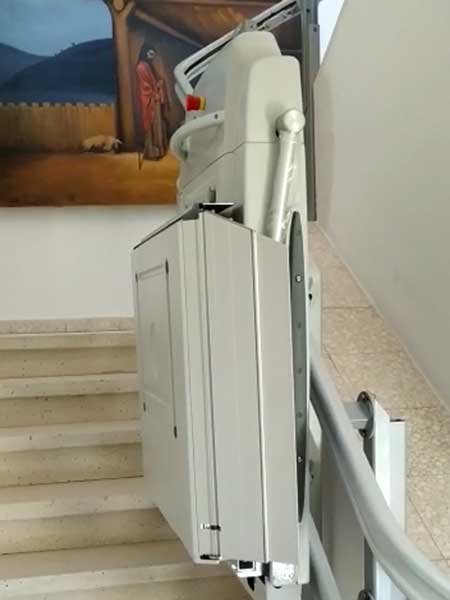 Inclined Platform Stair Lift Installation